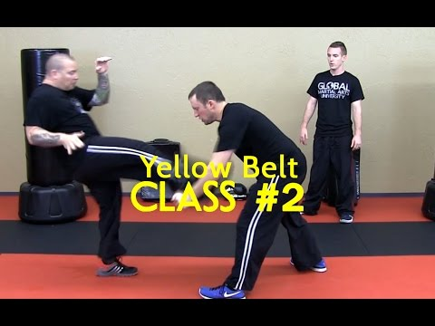 Beginner Krav Maga - Yellow Belt/Level 1 - Class #2 (Warm Up, Drills, Stretching)