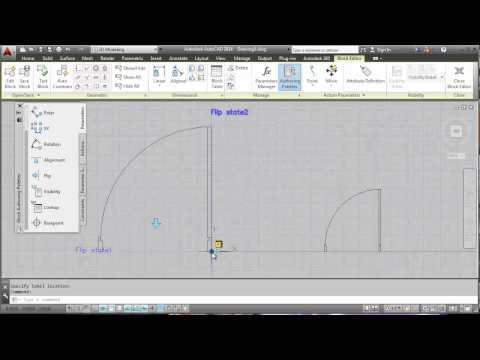 AutoCAD Dynamic Block Flip and Visibility