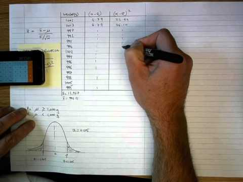 How To... Calculate a Z Score (By Hand)