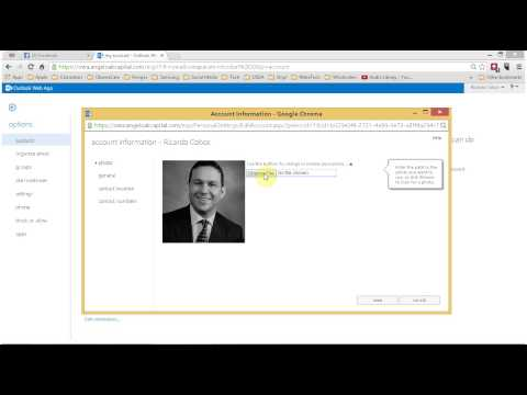 How to add your photo to your Outlook Web App profile for Outlook 2010
