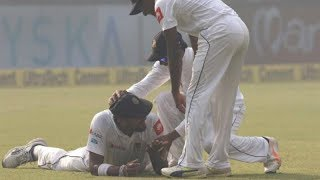 Dhawan Walks Off Smiling After Suranga Lakmal Takes a Catch without His Shoe
