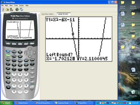 finding zeros on the calculator