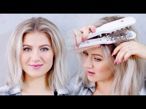 VOLUMIZING HAIR IRON?! DOES IT WORK?