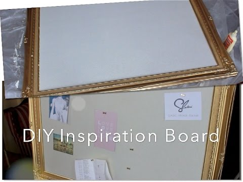 Transition with me | DIY: Inspiration Board / Dream Board w. Cork & Frame