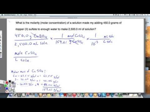 Calculating molar concentration