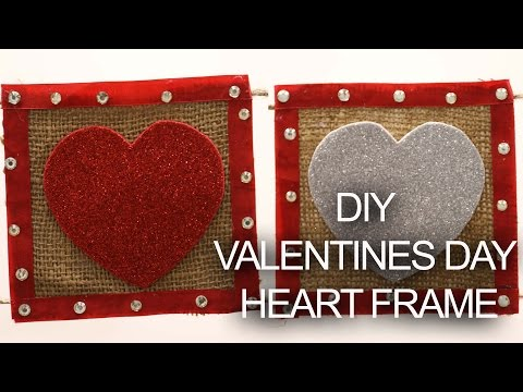 DIY Heart bunting  ||Valentine Day 2017 || Crafts and Creations