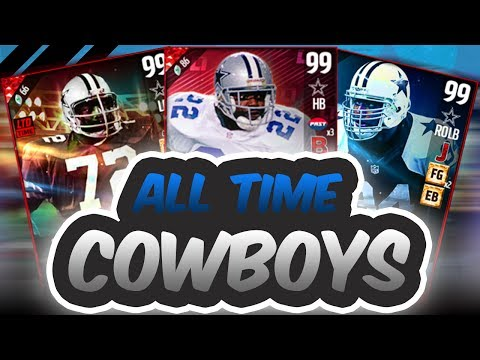 ALL TIME DALLAS COWBOYS SQUAD BUILDER!! - Madden 17 Ultimate Team
