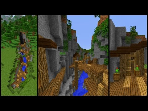 How to make a Minecraft RAVINE Town!
