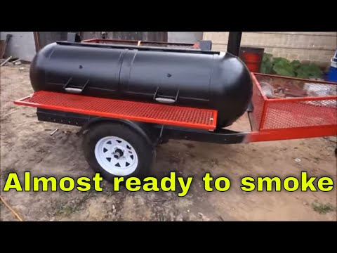 Propane tank smoker / grill trailer build Part 17