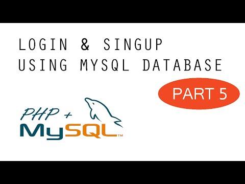 Login & SignUp - MySQL + PHP Tutorial - Part 5