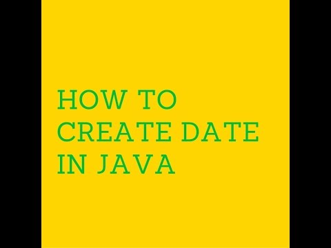 How to create Date in java?