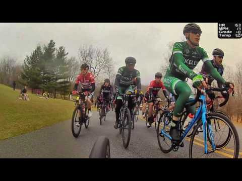 HD 2017 Road Bicycle Racing - REAR CAMERA 50 Minute Circuit Race (Trainer/Rollers)