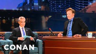 Mayor Rahm Emanuel Gives Conan Chicago Citizenship Test - CONAN on TBS