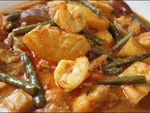 SALTED FISH, PRAWN & PINEAPPLE CURRY