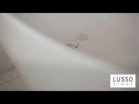 Lusso Stone Soho Stone Resin Freestanding Bath 1630 Video