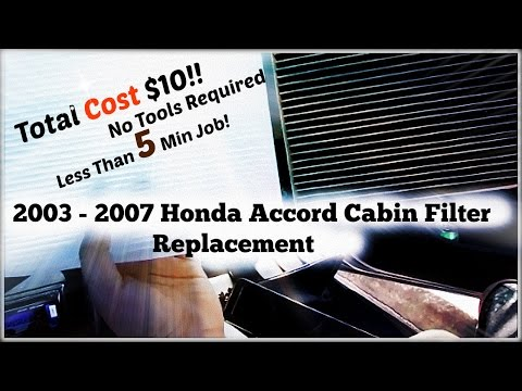 2003 - 2007 Honda Accord Cabin Air Filter Replacement