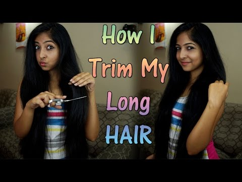 How I Cut/Trim My Long Thick Hair at Home