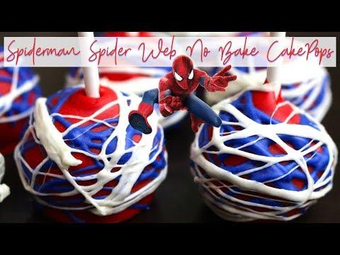 🕸Spiderman 🕷Spider Web Easy NO Bake Cake Pops