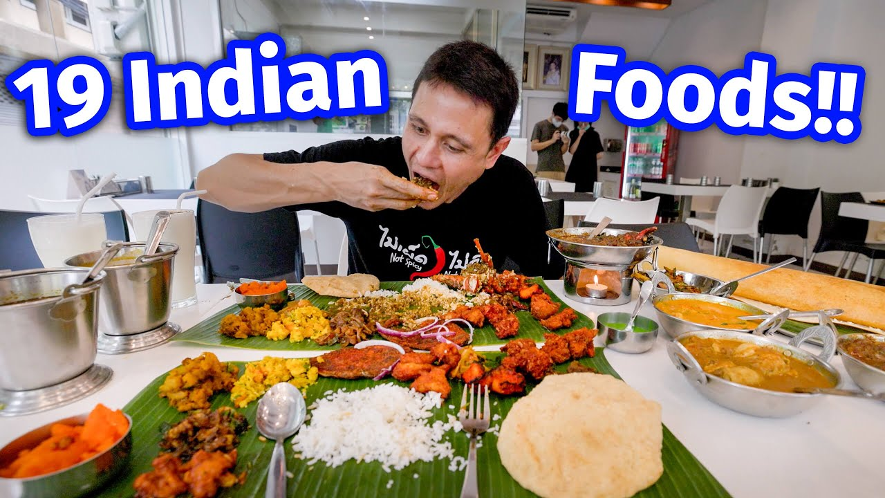 $100 South Indian Food - GIANT 19 ITEMS THALI | Chettinad (Tamil Nadu) Crab Curry!