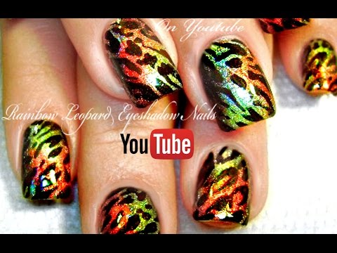 The First Chrome Nails on Youtube | DIY Leopard Animal Print Nail Art designTutorial