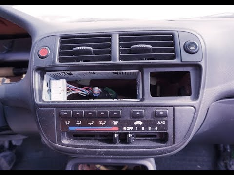 1996 1997 1998 1999 2000 HONDA CIVIC -  Radio Climate Heater Control Removal Replacement