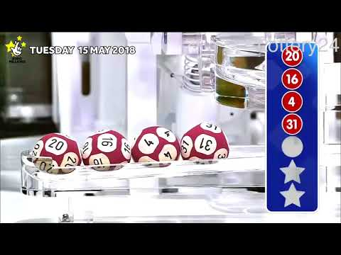 2018 05 15 Euro Millions Number and draw results