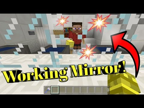 HOW TO MAKE A WORKING MINECRAFT MIRROR (Command Showcase)