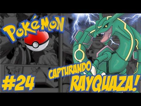 Pokémon Emerald - Temos que Pegar #24 / Capturando o Lendário Dragão Voador Rayquaza!!