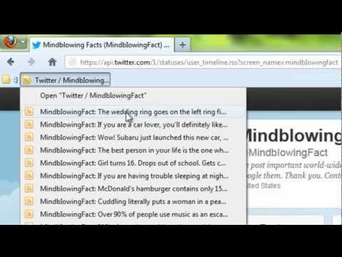 Firefox - Twitter RSS Feeds