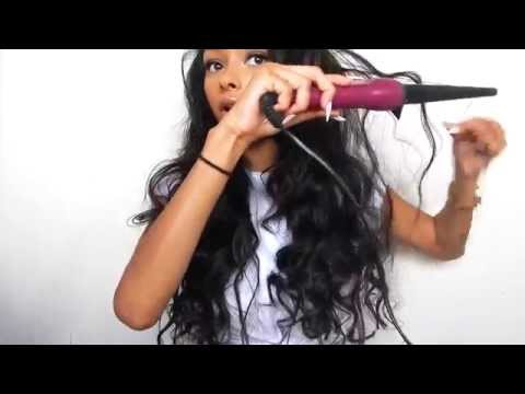 Beach waves hair tutor using bleu ribbon hairl | JaydePierce