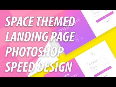 Landing Page Speed Web Design In Photoshop | XO PIXEL