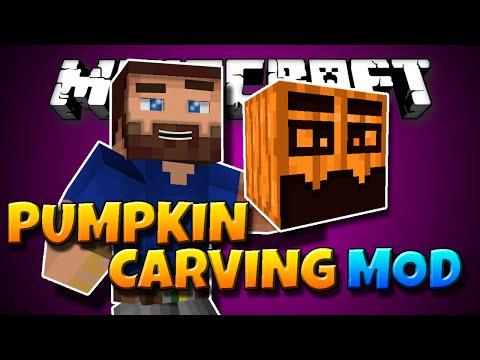 Minecraft Mod: PUMPKIN CARVING! | Carve Your Own Pumpkins! [1.7.10]