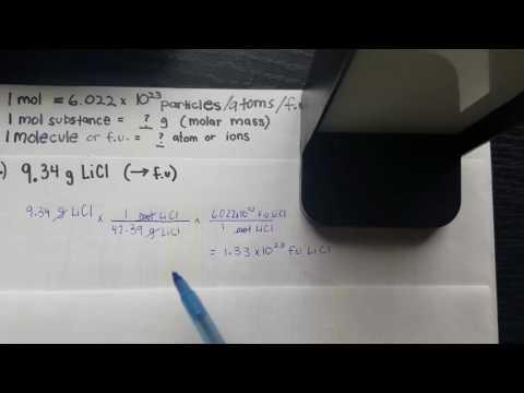 Grams to Formula Units: Mole Conversion