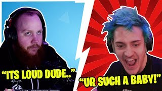 NINJA AND TIMTHETATMAN GET IN FIGHT OVER LOUD KEYBOARDS SOUNDS!