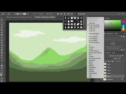 Monochrome Landscape Photoshop CC