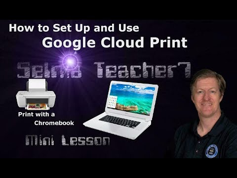 How to Set Up Google Cloud Print to Print from Your Chromebook