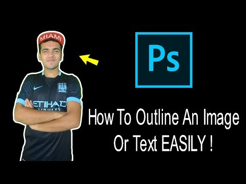 How To Add Outline To Your Photo Using Photoshop For Creating Youtube Thumbnails. Photoshop Tutorial