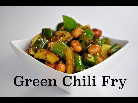 Green Chili Fry- Instant Chili Pickle-Hari Mirchi Fry Recipe-Sweet & Sour Green Chili Fry
