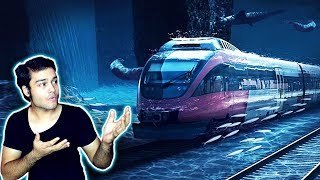 पानी के अंदर की ट्रेन (Proposed Technology) Project Underwater Speed Rail UAE to Mumbai - TEF 27