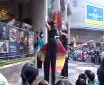 Christmas dance at Time Square, Hong Kong