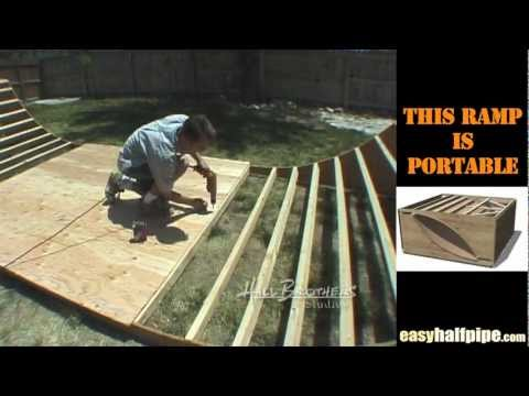 How to build a Halfpipe Step 4 PLYWOOD