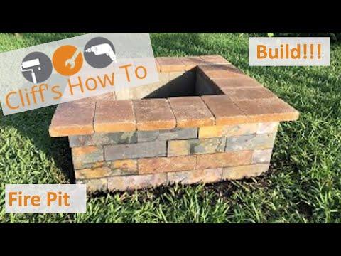 Fire pit - Cinder Block, Slate, Stone Top - DIY