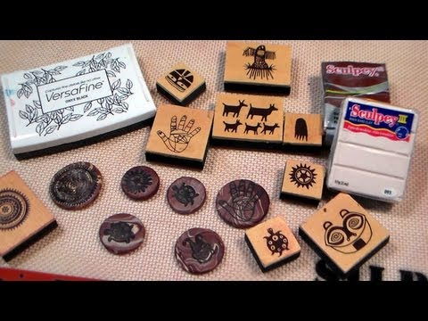 clay stamped embellishments