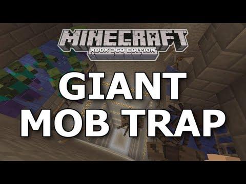 Minecraft Xbox 360- Giant Mob Trap