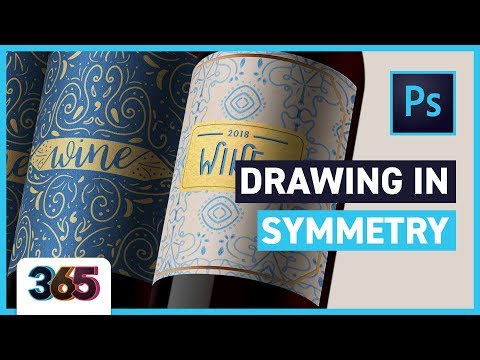 Drawing in Symmetry | Illustrator & Photoshop Tutorial #49/365 Days of Creativity