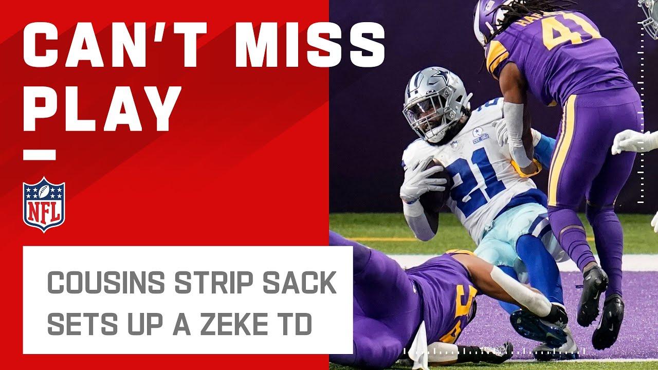 Cowboys Take Down Kirk Cousin to Set Up a Zeke TD!