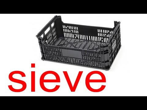 Simple Sieve with a Plastic Fruit Box