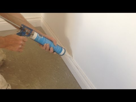 How to caulk fill Skirting boards, gun fill
