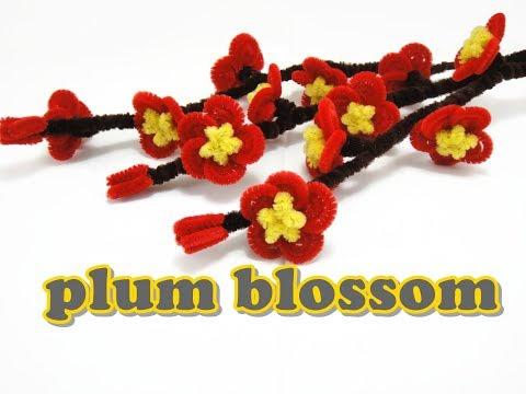 Chenille stem / Pipe Cleaner Craft - Plum Blossom