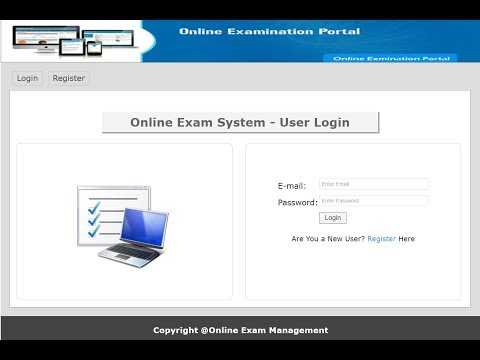 Online exam management system in PHP, MySQL